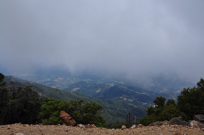 200 feet from the summit I walked into a cloud and the views kind of disappeared. Oh well.