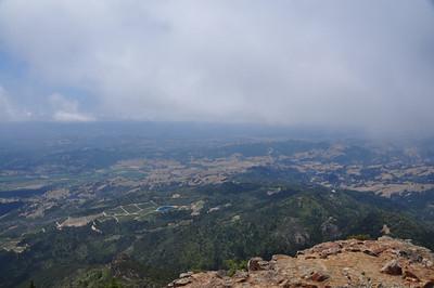 Views of wine country far below