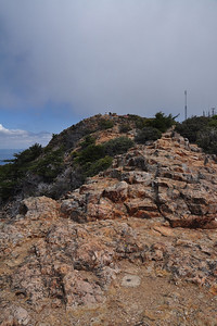 summit rock (and stubborn cloud that won't clear away)