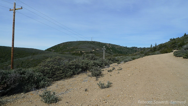 After rounding a few curves the false (east) summit is in view.