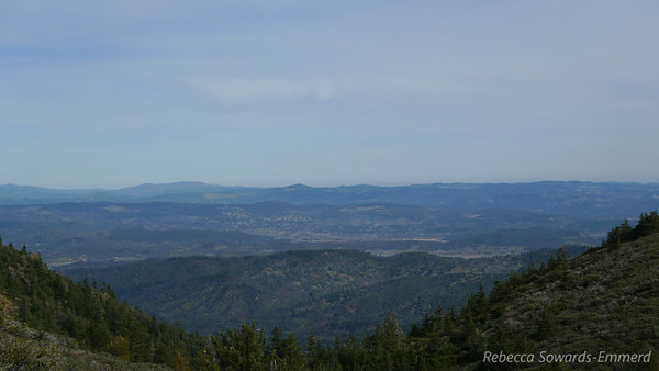 Way out there, barely visible in this shot due to the haze, is Mt Lassen