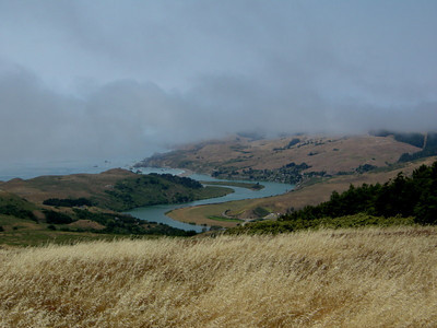 Russian River meets the Pacific in the distance