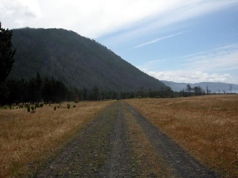 We eventually hike along a runway