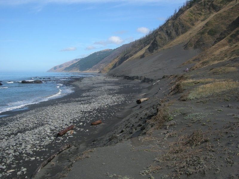 Two options: hike the jeep trail on the bluff or walk the beach