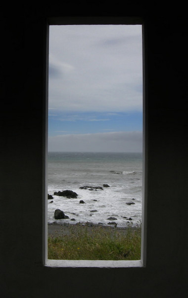 Framed beach