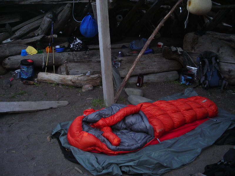 Camp in the morning with my new MontBell UL Down Hugger<br /> <br /> The weather was great - I just slept out under the stars