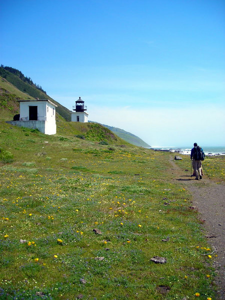 Approaching the Punta Gorda lighthouse<br /> <br /> It is now abandoned but standing strong along the Lost Coast