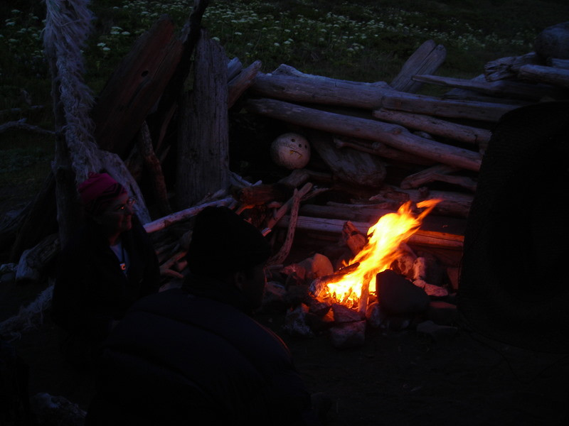 Our campfire - time for marshmallows!