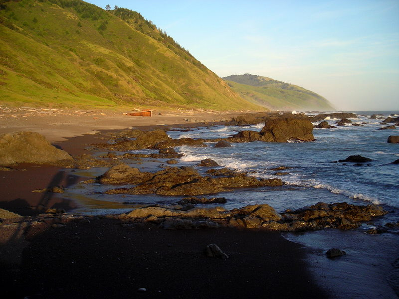 Looking south along the Lost Coast