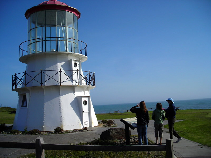 Paige, Kris, and Heidi check out the lighthouse at Shelter Cove<br /> <br /> Ready to cause mischief