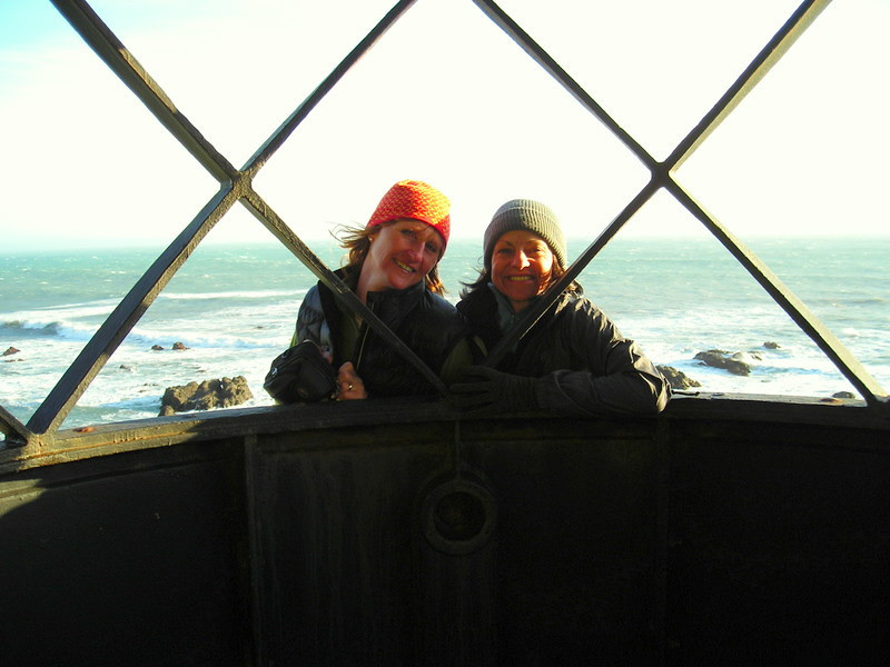 Theresa and Kris in the lighthouse