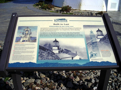 This lighthouse was originally at Cape Mendocino  It was moved to Shelter Cove several years ago