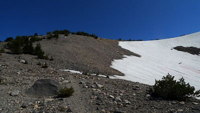 But it turns out it wasn't a problem - the trail switchbacks up a nice and dry rib. Whew!