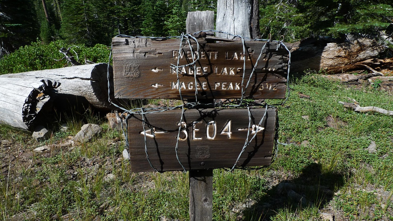 Another weird barbed wire trail sign.