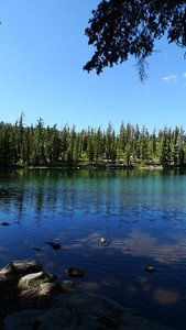 Everett Lake. We hiked in from the Cypress trailhead. A dry and dusty haul up hill but the destination is worth it.