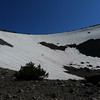 Finally reached the 'crux' - still lots of snow up here around 8500k.