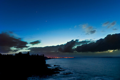 Dunluce Castle, during the conjunction of Jupiter and Mars