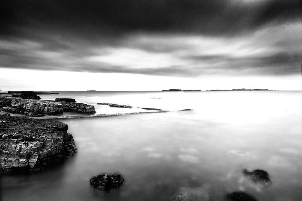 Skerries  and the old harbor, Portrush