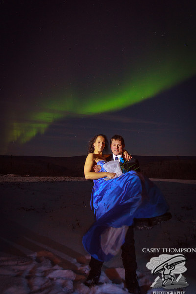 Ronn Murray and Marketa Stancyzkova were married on October 25, 2012 at the Poker Flat Rocket Research Range under the Aurora.