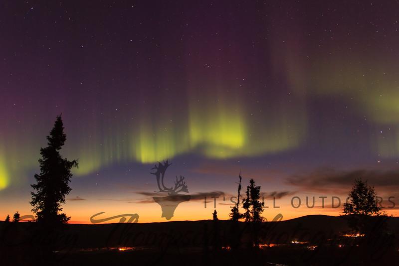 Aurora over Fox, AK. August 23, 2012