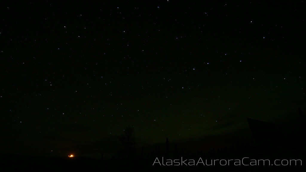 Slow But Steady (Bonus Time Lapse Movie) -  Nov 3rd-4th, Alaska Aurora Cam
