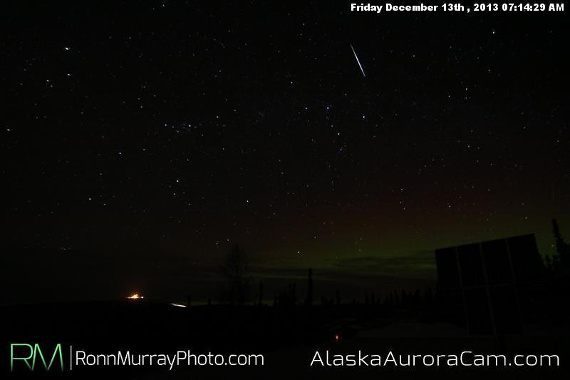 Colorful Streaks - Dec 13th, Alaska Aurora Cam