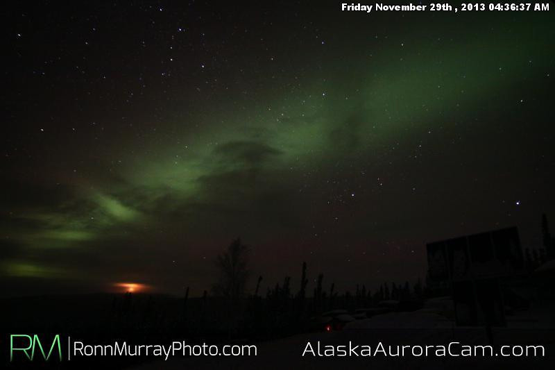 Thanksgiving Surprise - Nov 29th, Alaska Aurora Cam