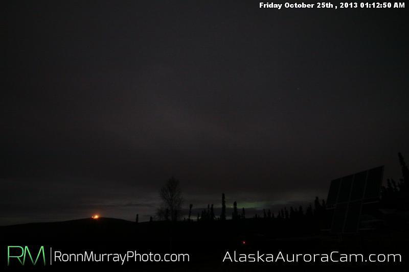 Faint Aurora Behind the Clouds - Oct 25th, Alaska Aurora Cam
