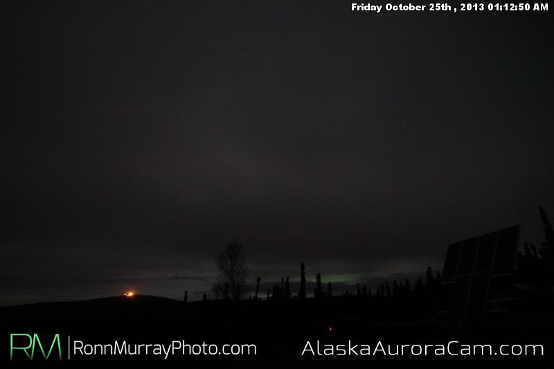 Faint Aurora Behind the Clouds - Oct 25th, Alaska Aurora Cam