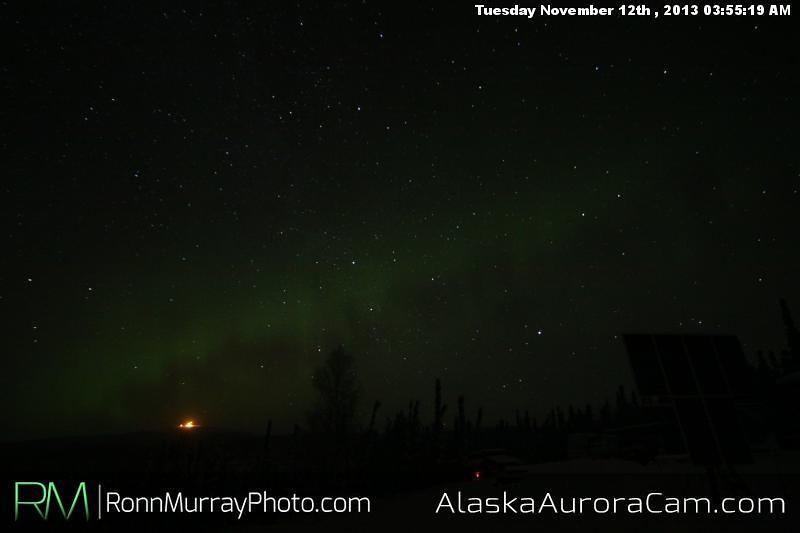 Faint but There - Nov 12th, Alaska Aurora Cam