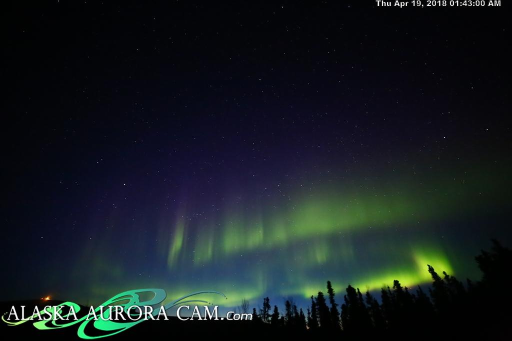 April  18th  - Alaska Aurora Cam