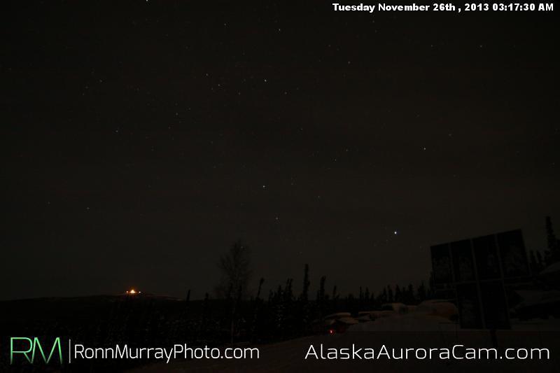 Quite Calm - Nov 26th, Alaska Aurora Cam