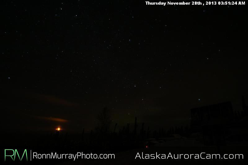 Another Silent Night - Nov 28th, Alaska Aurora Cam