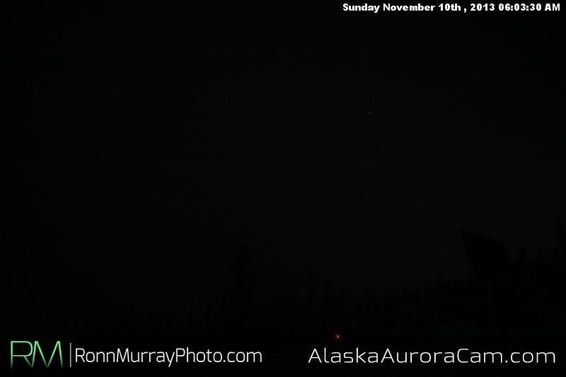 Dark and Snowy - Nov 10th, Alaska Aurora Cam