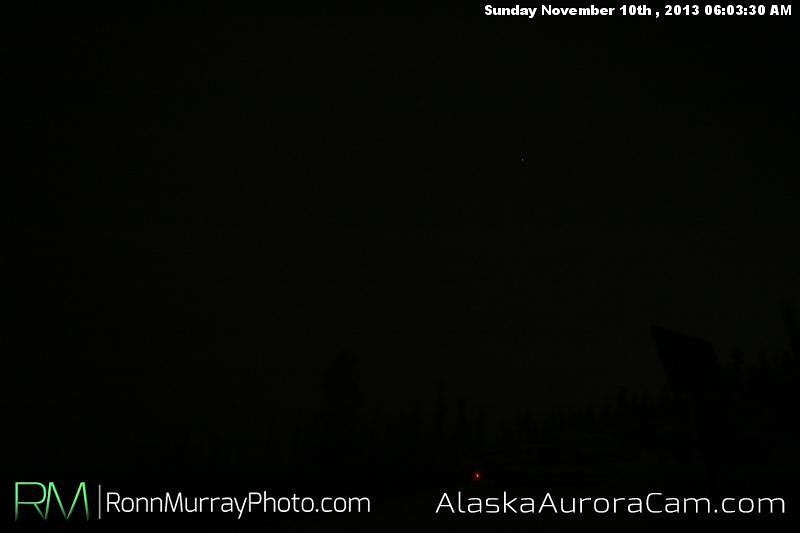Dark and Snowy - Nov 10th, Alaska Aurora Cam
