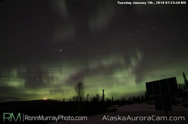 Late Morning - Jan 7th, Alaska Aurora Cam