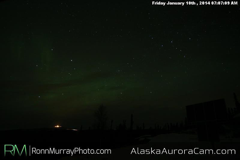 Finally Clear and Cold - Jan 10th, Alaska Aurora Cam