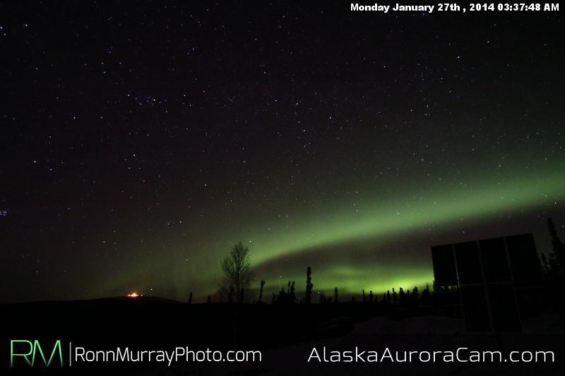 Subtle but Beautiful - Jan 27th, Alaska Aurora Cam