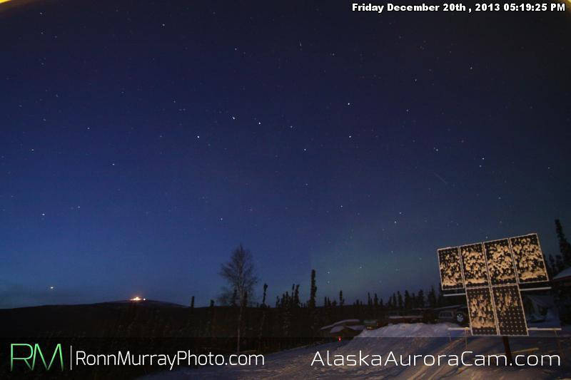 Twilight Teaser - Dec 21st, Alaska Aurora Cam