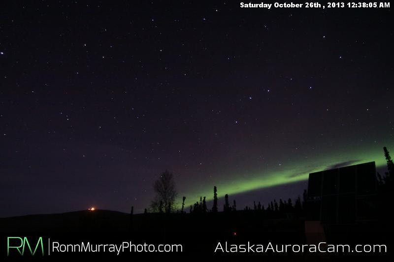 A Good Start - Oct. 26th, Alaska Aurora Cam