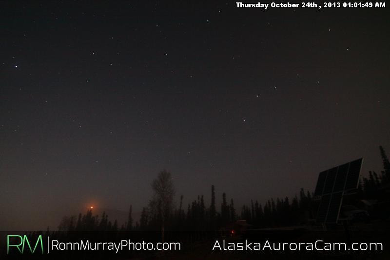 Uneventful Evening - Oct 24th, Alaska Aurora Cam