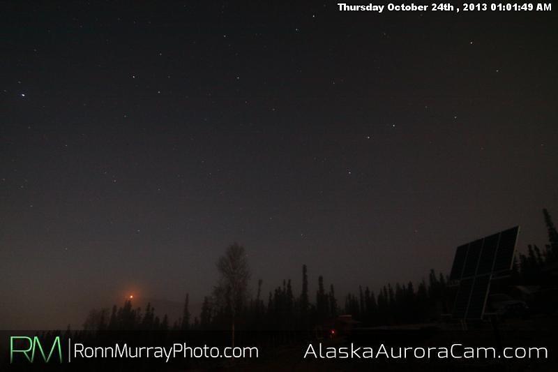 Uneventful Evening - Oct 24th, Alaska Aurora Cam