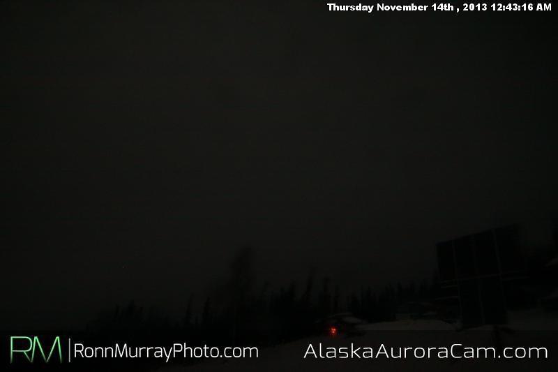 It was a Dark and Stormy Night - Nov 14th, Alaska Aurora Cam