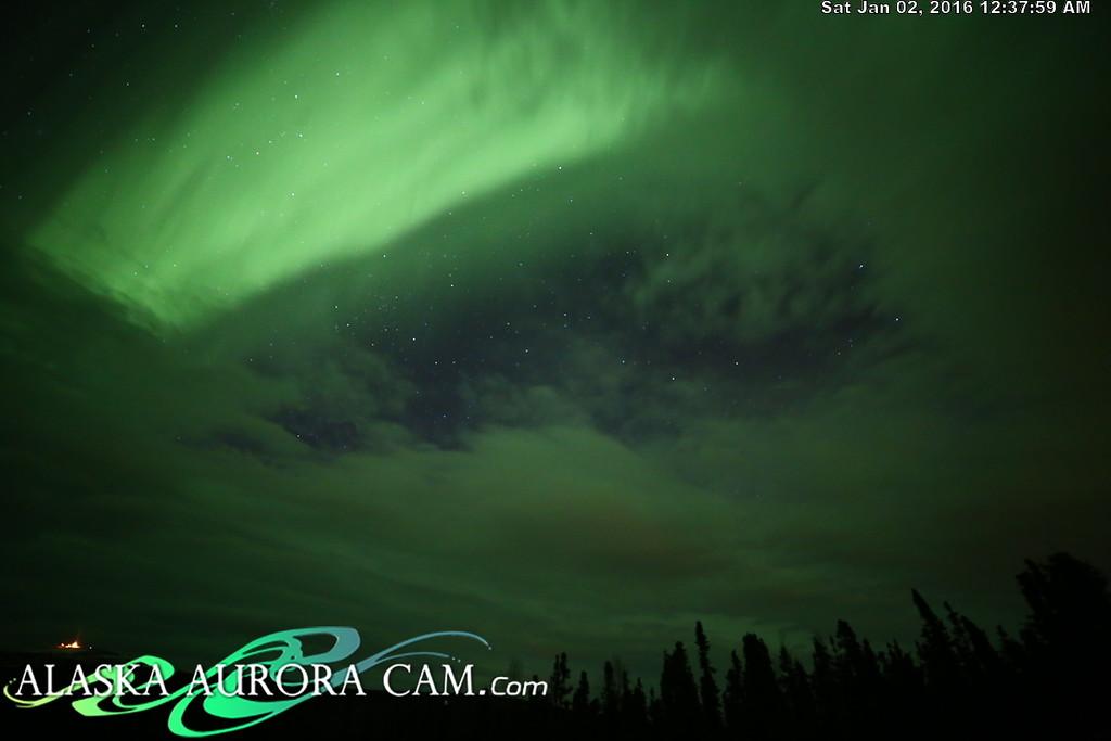 January 1st  - Alaska Aurora Cam
