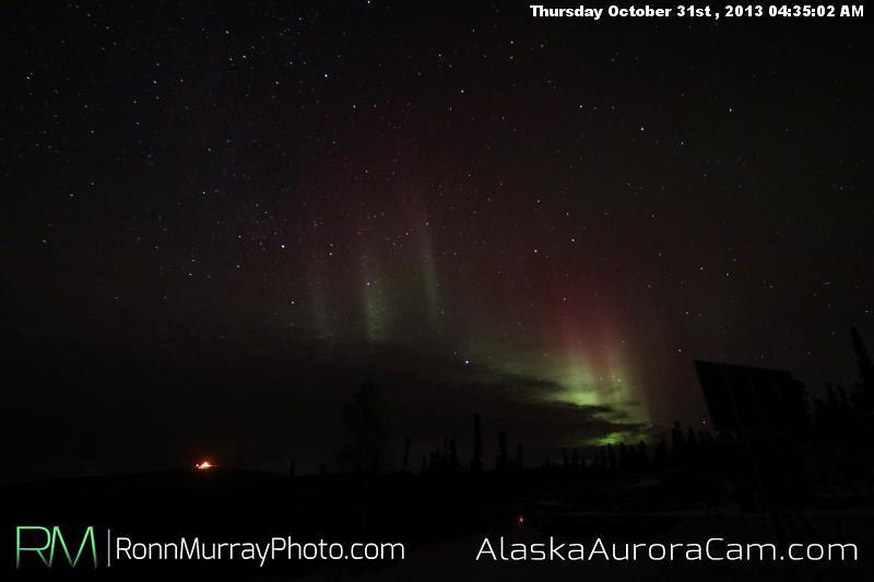 Quiet Night - Oct 31st, Alaska Aurora Cam
