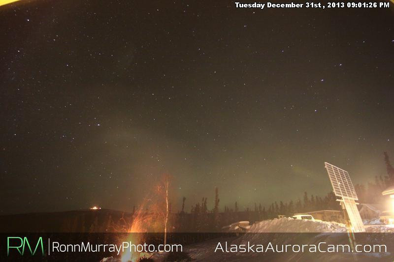 New Year! - Jan 1st, 2014, Alaska Aurora Cam