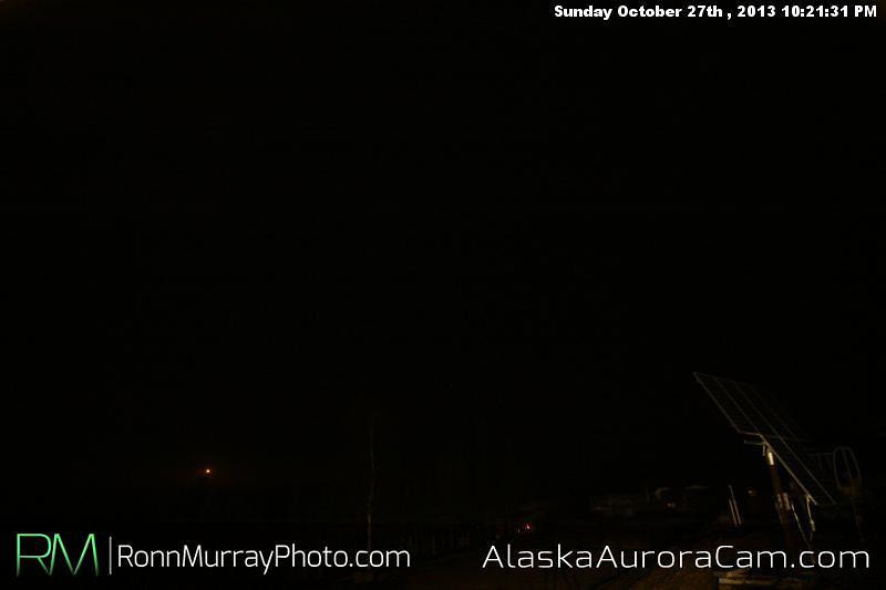 Rained on Parade Oct. 28th, Alaska Aurora Cam