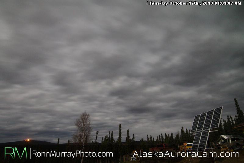 Blankets over they Sky - October 17th,  Alaska Aurora Webcam