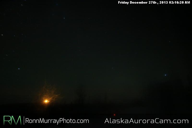 Faintly There - Dec 27th. Alaska Aurora Cam