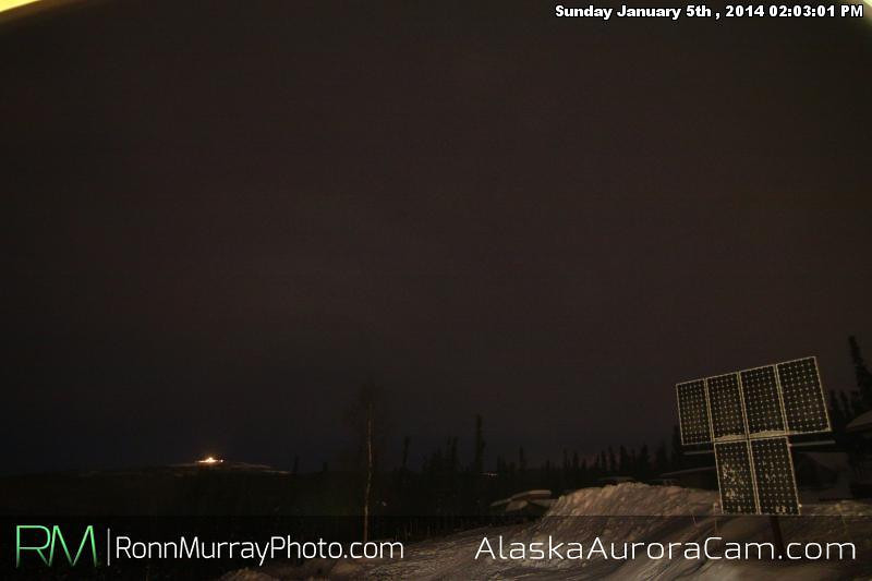 Mostly Cloudy - Jan 5th, Alaska Aurora Cam